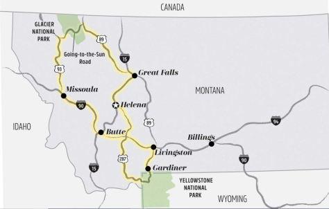 Glacier Park Yellowstone Road Trip