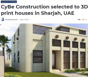 3D Printed Homes CyBe Construction