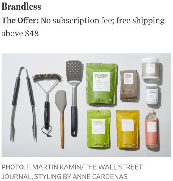 Brandless Online Shopping Photo WSJ by F. Martin Ramin
