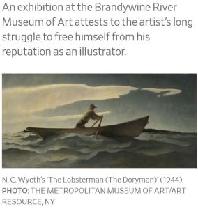 Brandywine River Museum of Art Wyeth Exhibit The Lobsterman 1944 Metropolitan Museum of Art