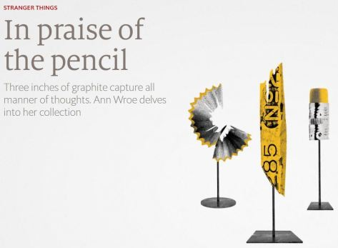 In Praise of the Pencil 1843Magazine ILLUSTRATION MIKE MCQUADE