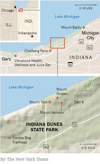 Indiana Dunes National Park map NY Times