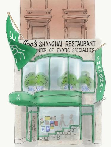 Joes Shanghai Restaurant Illustration by Jennifer Tobias MOMA 2019