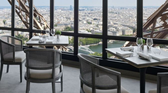 "Gastronomic Events: The Eiffel Tower's ""Le Jules Verne"" Restaurant Reopens With Spectacular Makeover And Menu"