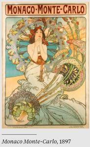 Poster House Alphonse Mucha Monaco Monte-Carlo 1897