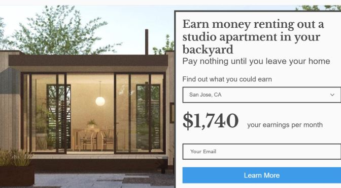 "Boomers Home Income : ""RentTheBackyard.com"" Will Build & Rent Studio Apartment For You"