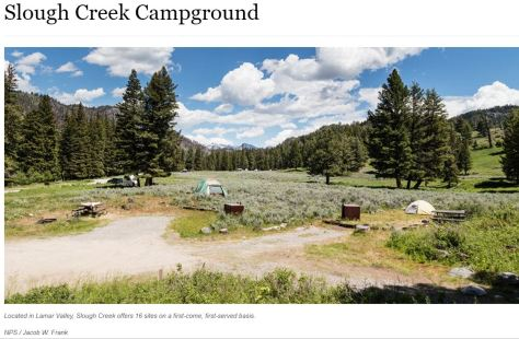 Slough Creek Campground Yellowstone Top Campground