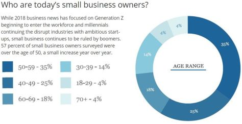 Small Business Owners Ownership Percentages 2019