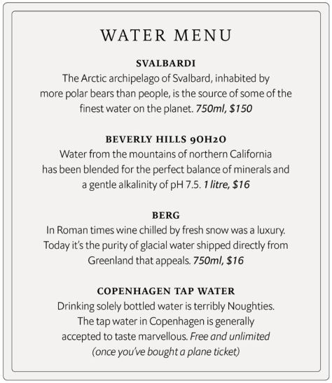 Specialized Water Menu The Economist 1843 Magazine