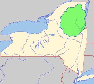 The Adirondack Park In Upstate New York Map