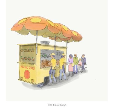 The Halal Guys by Illustrations by Jennifer Tobias MOMA 2019
