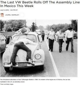 Volkswagen Beetle ceases production - NPR