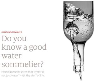 Water Sommelier Article
