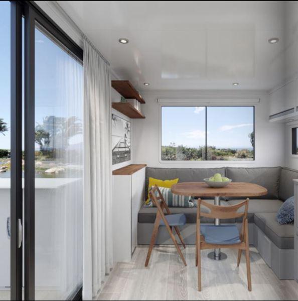 2020 Living Vehicle Interior Kitchen Deck