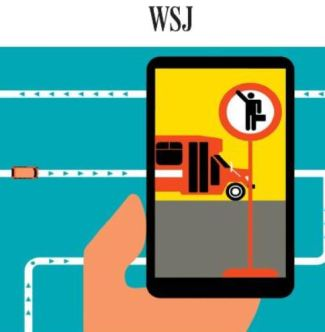 Airport Shuttle Tracking App Illustration by Rob Wilson for WSJ
