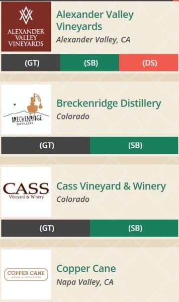 Breckenridge Wine Classic Wineries