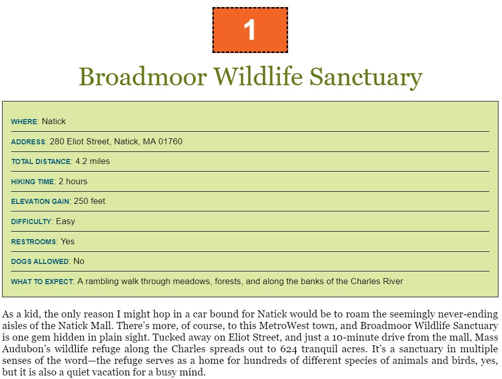 Broadmoor Wildlife Sanctuary 50 Hikes in Eastern Massachusetts book