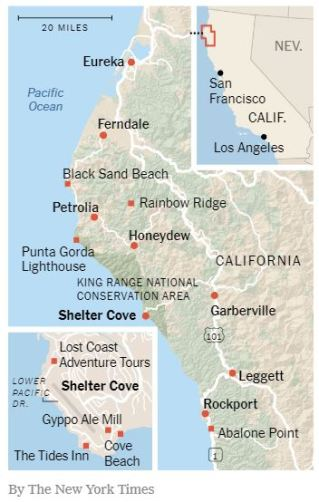 California Lost Coast map by The New York Times