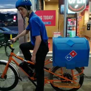 Dominos Pizza Electric Bike delivery