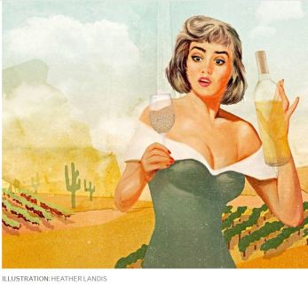 Dry White Wines Wall Street Journal Illustration by Heather Landis 2019