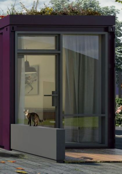 FBM Architects Vale of Aylesbury Housing Trust Container Low Cost Homes Front