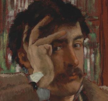 James Tissot, Self Portrait, ca. 1865. Oil on panel Fine Arts Museums of San Francisco, Museum purchase, Mildred Anna Williams Collection