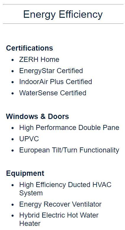 Module Design Homes Energy Efficiency