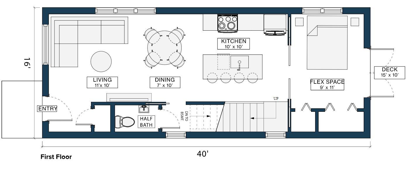 Module Design Homes floor plan 1st