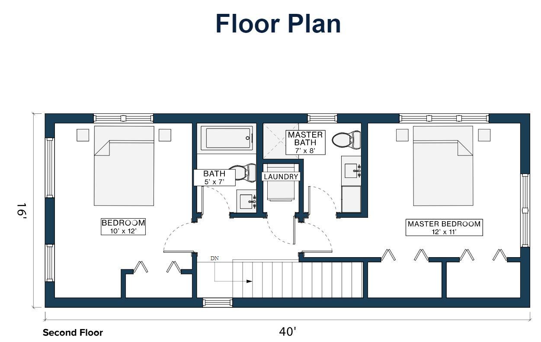 Module Design Homes floor plan 2nd