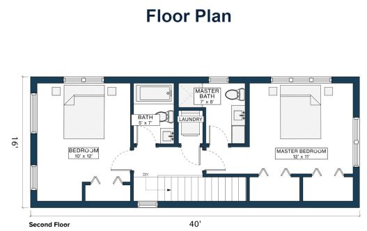 Module Design Homes floor plan 2nd