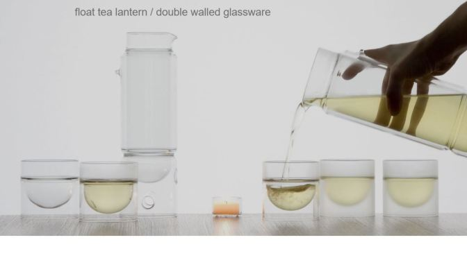 Glassware Of The Future: Floating Glass Tea-Brewer & Cups From Molo Design