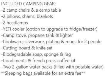OVERLAND DISCOVERY 2020 JEEP GLADIATOR Camping gear list