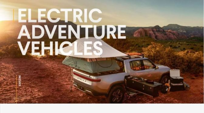 "Future Of Camping: Rivian Electric Adventure Vehicles Feature A Unique ""Pull-Out Kitchen"""