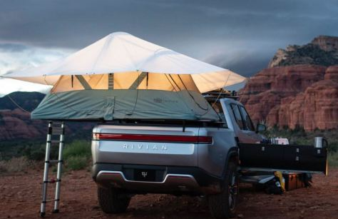 Rivian Electric Adventure Vehicles Functional Pull Out Kitchen