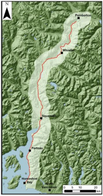 Sea To Sky Corridor Vancouver Map