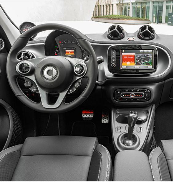 smart fortwo cabrio electric 2020 interior