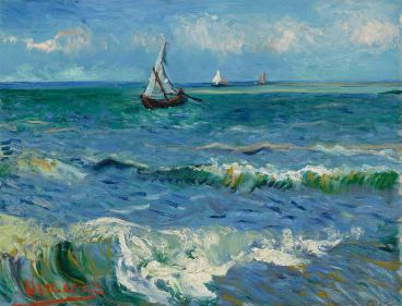 Vincent van Gogh, Seascape near Saintes-Maries-de-la-Mer, 1888
