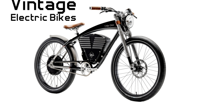 "Boomers Leisure: Vintage Electric Bikes ""Designed In The Grand Tradition Of Open-Air Sportscars"""