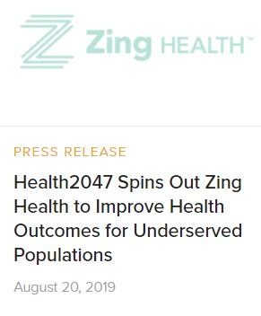 Zing Health news release