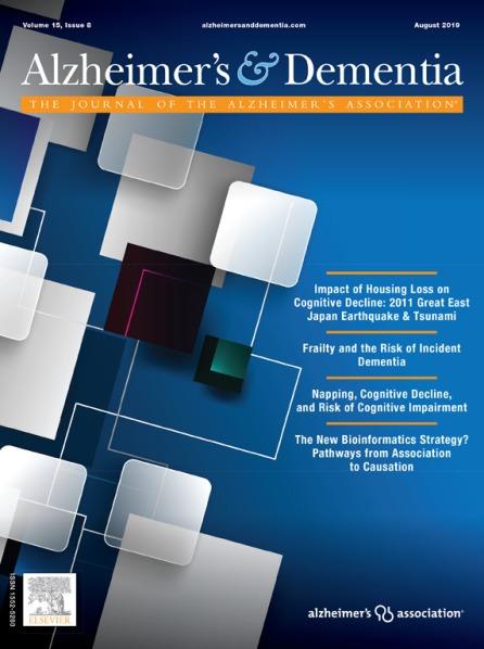 Alzheimer's & Dementia Journal Aug 2019