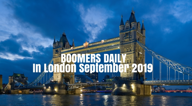 Boomers In London: Day 2 –   South Bank To Tate, Westminster Back To The City
