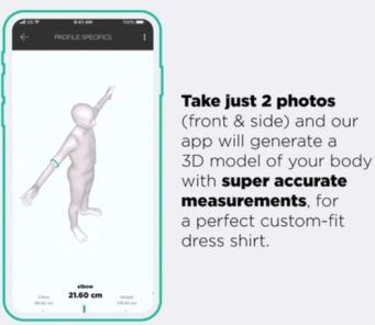 Element Pure AI Body Scanning Tailoring Smartphone Tech
