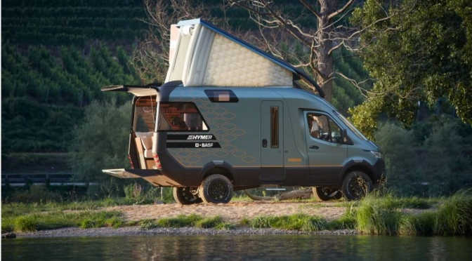 "Future Of Camper Vans: The ""Hymer VisionVenture"" Looks, Designed Like A ""High-End Apartment"""