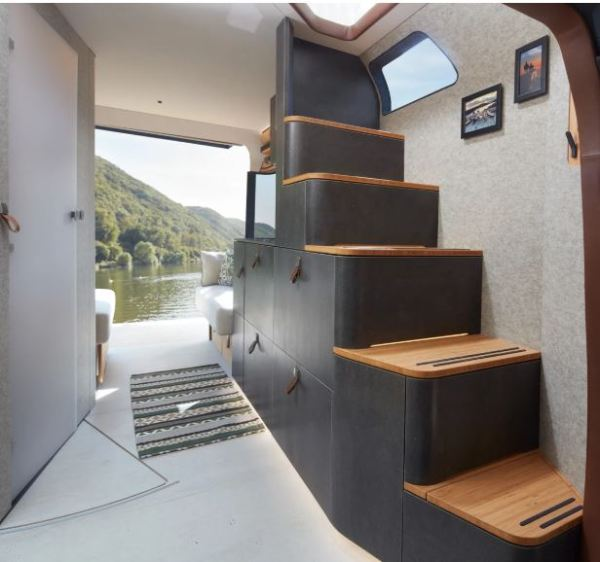 Erwin Hymer Group debuted the VisionVenture concept interior stairs