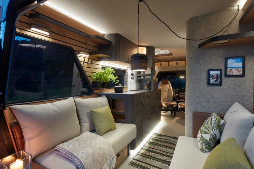 Erwin Hymer Group debuted the VisionVenture concept interior