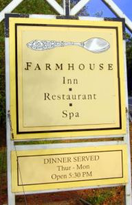 Farmhouse Inn, CA sign