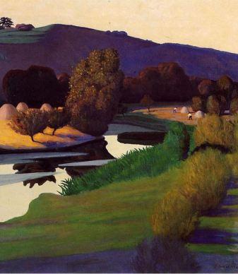 Nuit tombante sur la Loire - Félix Vallotton, 1923