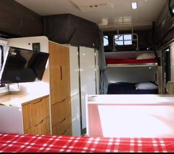 Opus OP 15′ Hybrid Caravan interior