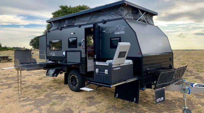 """Top New Camper Trailers: The Opus OP 15′ Hybrid Caravan Is """"Go Anywhere"""""""