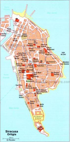 ortigia sicily map